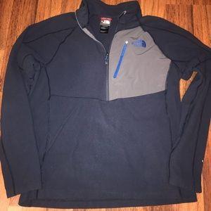 Men's The North Face Navy Fleece Pullover Sz Lg